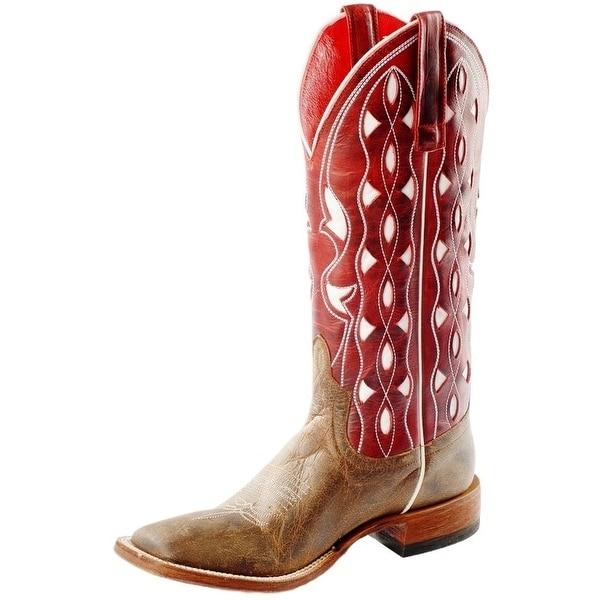 Macie Bean Western Boots Womens Delia Rio Inlay Bone Mad Dog