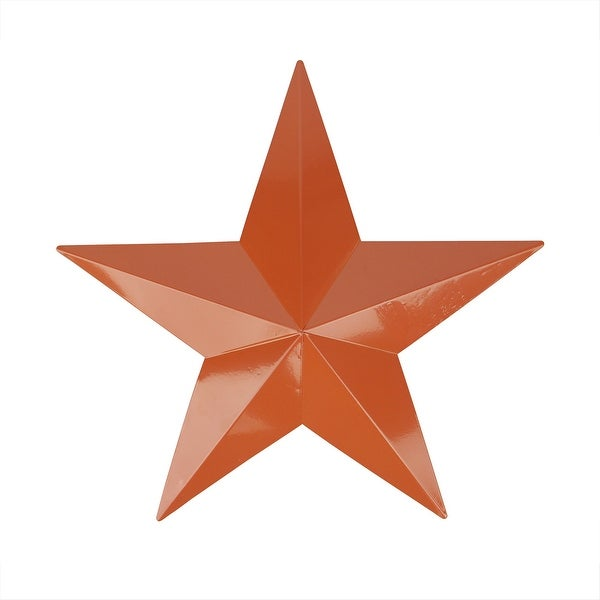 "11.5"" Light Brown Country Rustic Star Indoor/Outdoor Wall Decoration - N/A"