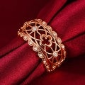 Laser Cut Matrix Rose Gold Design Ring - Thumbnail 2