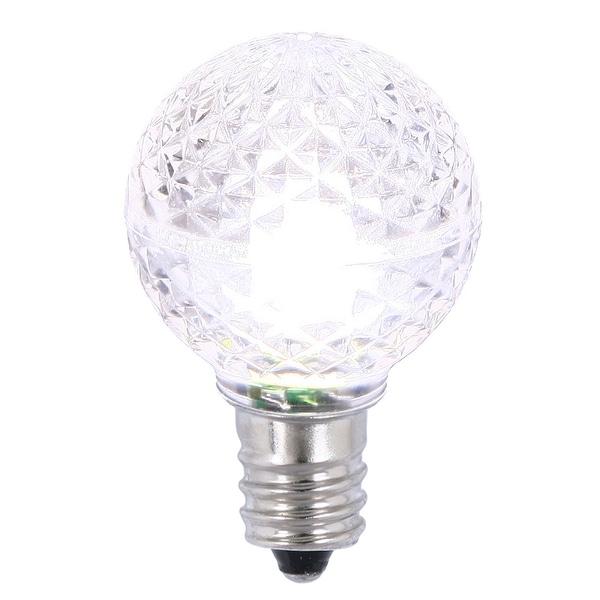 G30 Faceted LED Purewht Bulb E12 .38W