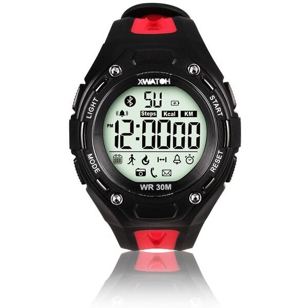 Indigi® Waterproof Bluetooth 4.0 Sports X-Watch + Call Notification + SMS Notification + Pedometer + 1 Year Battery (Red)