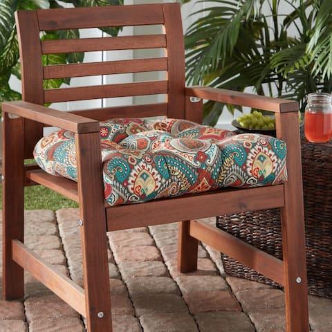 Greendale Home Fashions Global 20-inch Outdoor Chair Cushion