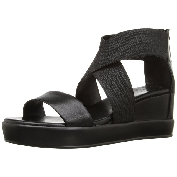 French Connection Womens Pelle Leather Open Toe Casual Platform Sandals