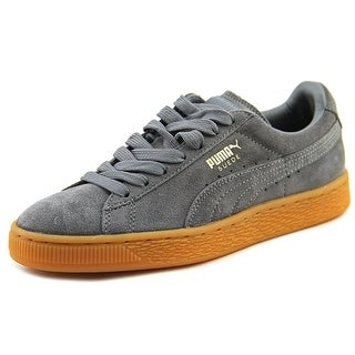 Puma Suede Winter gum Youth Round Toe Leather Gray Sneakers