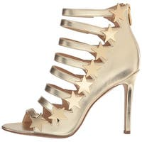 Katy Perry Womens Stella Leather Open Toe Special Occasion Strappy Sandals