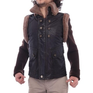 Gucci  Front Pockets Zipper Leather Jacket Basic Jacket Brown