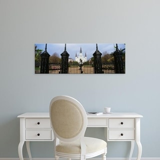 Easy Art Prints Panoramic Images's 'Facade of a church, St. Louis Cathedral, New Orleans, Louisiana, USA' Canvas Art