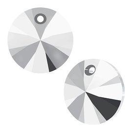 Swarovski Elements Crystal, 6428 Xilion Round Pendants 8mm, 8 Pieces, Crystal Light Chrome