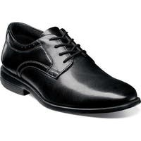 Nunn Bush Men's Devine Plain Toe Oxford Black Leather