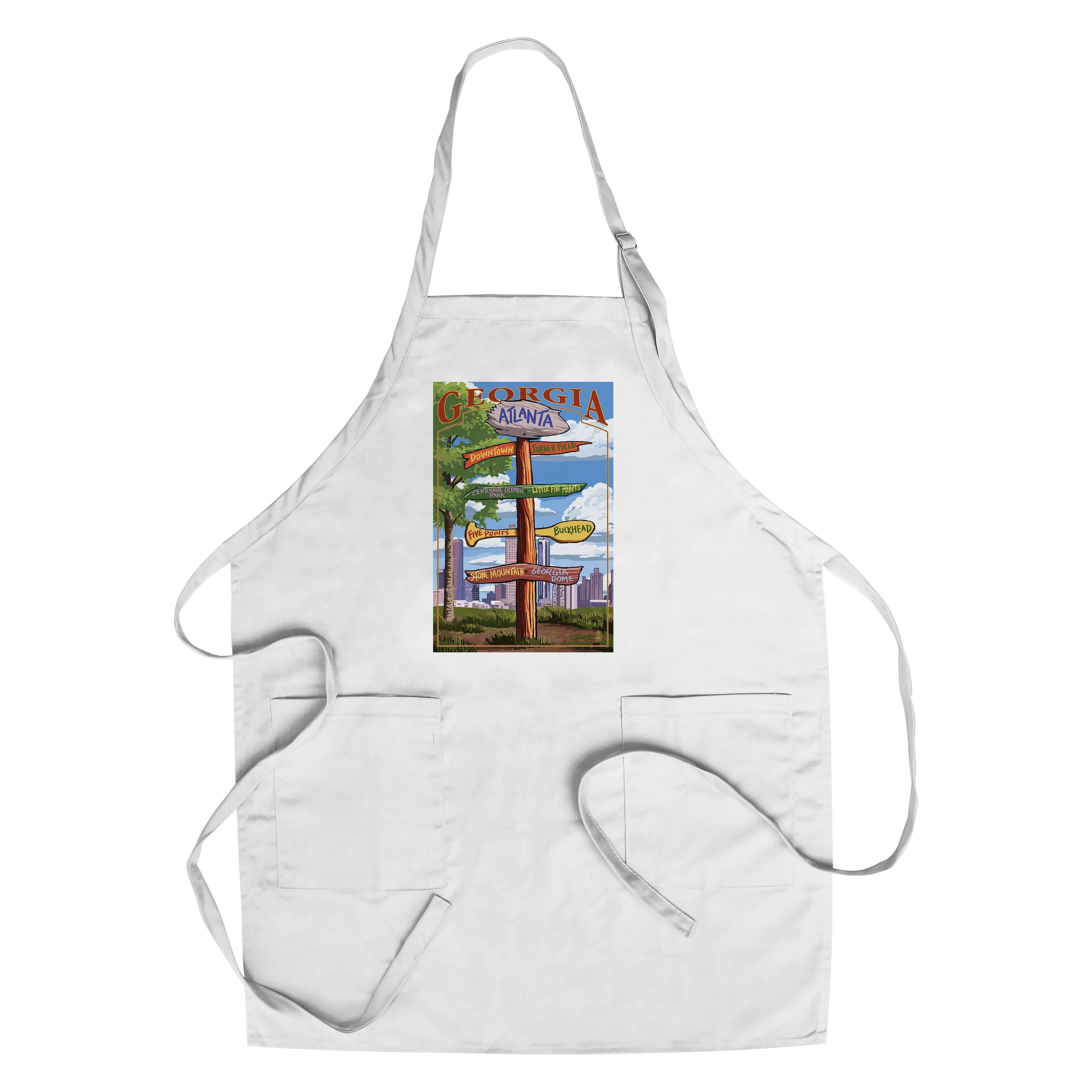 MT-Sports Store Team Logo Apron Chef Hat Set Adjustable Apron Chef Hat One Size