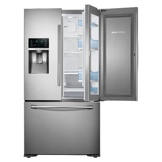 Samsung RF23HTEDB 23 Cu. Ft. Capacity 36 Inch Wide Counter Depth French Door Refrigerator with 3-Door Food Showcase