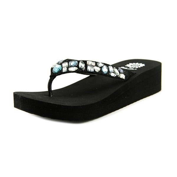 0c3e9dc7b883 Shop Yellow Box Zalora Women Open Toe Leather Blue Thong Sandal ...