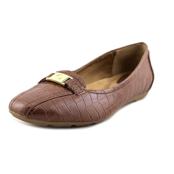 Giani Bernini Jileese Women W Bicycle Toe Leather Brown Loafer