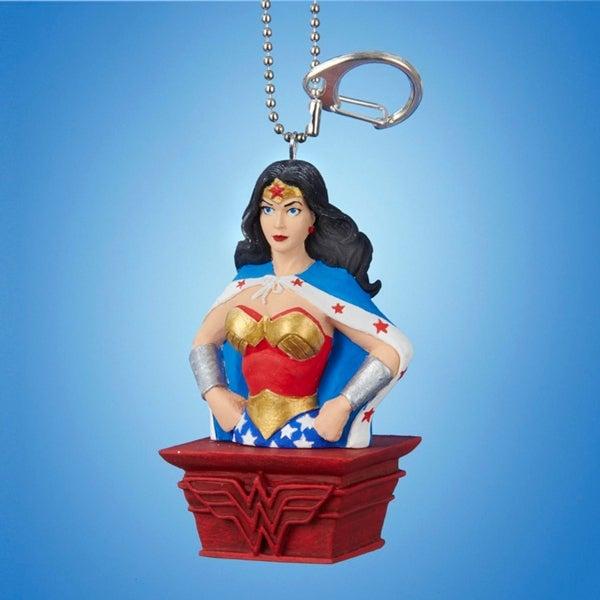 "3.25"" Wonder Woman Clip-On Keychain Christmas Ornament - BLue"