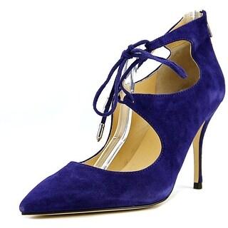 Ivanka Trump Deenal Women Pointed Toe Suede Blue Heels
