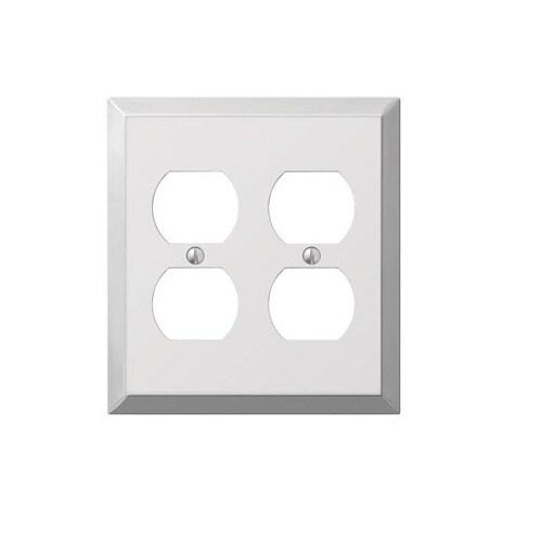 Amerelle 161dd 2 Duplex Wall Plate Polished Chrome