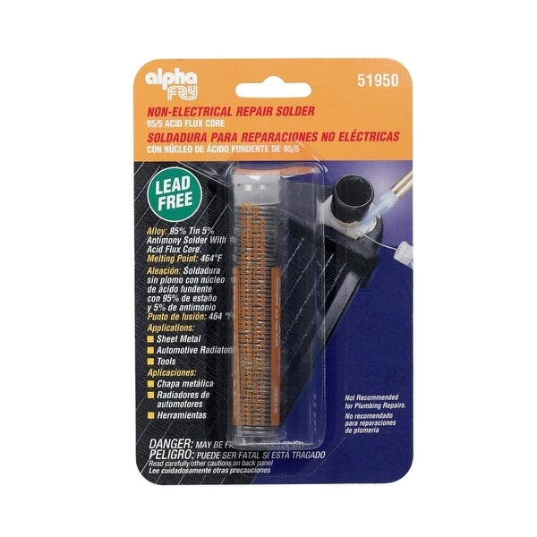 Alpha 51950 Lead-Free Non Electrical Repair Solder, 0.90 Oz