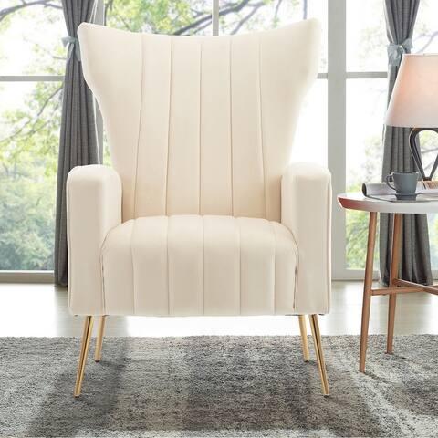 Modern Velvet Accent Living Room Arm Chair