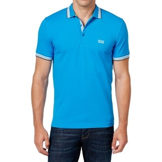 Hugo Boss NEW Blue Modern Fit Mens Size 2XL Polo Rugby Cotton Shirt