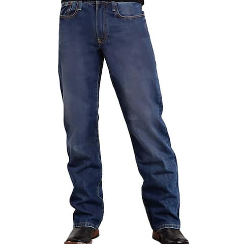 Stetson Western Denim Jeans Mens Relaxed Med Wash