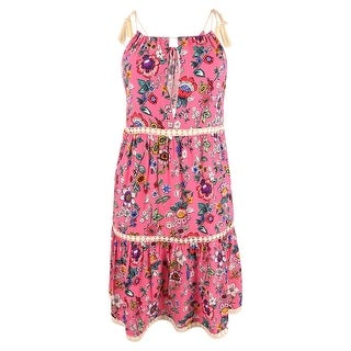Link to Vera Bradley Women's Printed Dress Swim Cover-Up (S/M, Coral) - Coral - M Similar Items in Swimwear