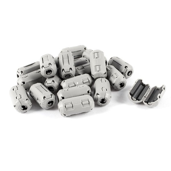 Unique Bargains 20 Pcs Gray UF35B 3mm Dia Clip On EMI RFI Noise Ferrite Core Filter
