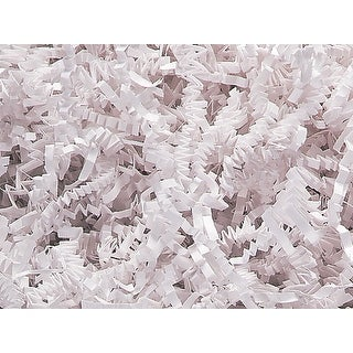 """Pack Of 1, Solid White Crinkle Cut Paper Shred (Spring-Fill® / Zig Fill) 1/8"""" Wide 8 Oz Made In Usa"""