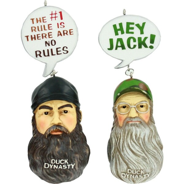 Duck Dynasty Ornament Set - Jase & Si