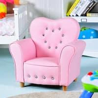 Gymax Pink Kids Teen Sofa Armrest Chair Couch Children Toddler Birthday Gift Girls