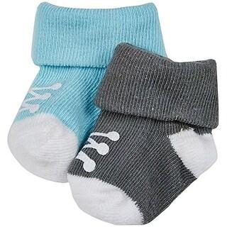 Carter's Baby Boys' 2 Pack Sneaker Keepsakes (Baby) - Blue/Olive - Newborn