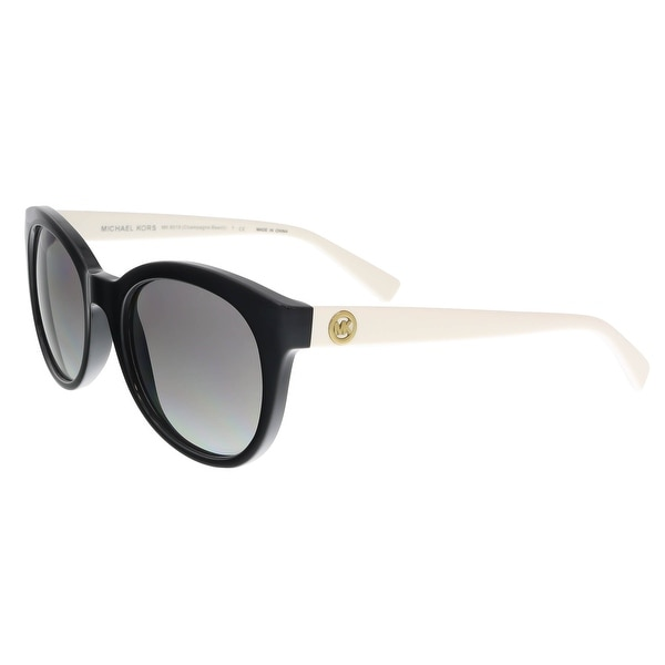 5435ad7485 Shop Michael Kors MK6019 305211 Black Ivory Round Sunglasses - On ...