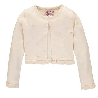 Sophie and Sam Girls 4-6X Bead Flare Shrug Cardigan Sweater