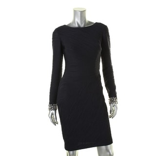 Eliza J Womens Semi-Formal Dress Embellished Pintucked