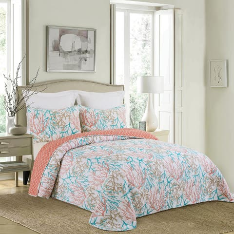 Oceanaire Seafoam Twin Bedspread