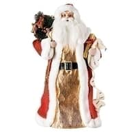 Pack of 2 Red and White Santa Claus Christmas Figure with List/Gifts 18""