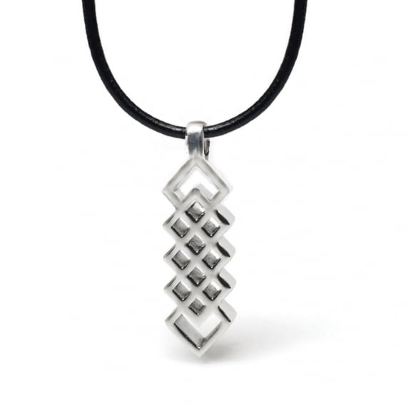 Loralyn Designs Men's Geometric Celtic Dagger Stainless Steel Pendant Necklace