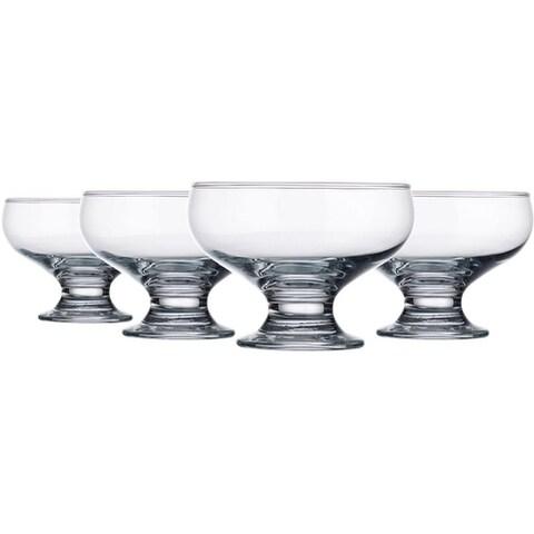 Palais Glassware High Quality Clear Glass 8 Ounce Dessert Ice Cream Bowls, Set of 4