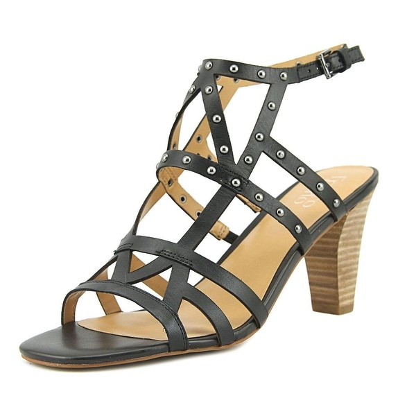 Franco Sarto Calesta Women Open Toe Leather Black Sandals