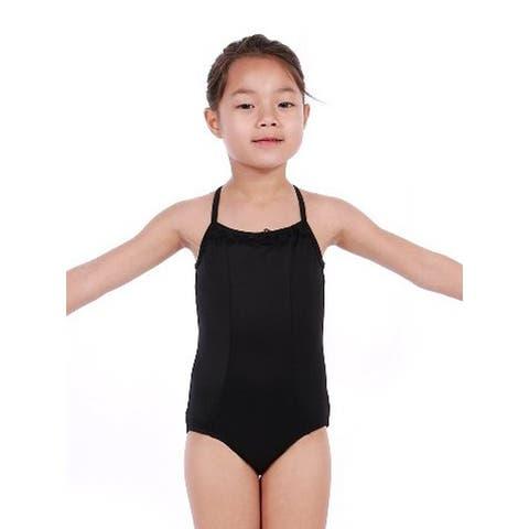 Veva by Very Vary Little Girls Black Mei Dance Leotard