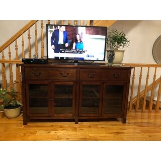 Corsica African Chestnut 65-inch Entertainment TV Console - 65 inches