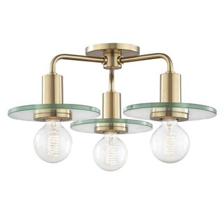 "Mitzi H113603 Peyton 3 Light 19-1/4"" Wide Semi-Flush Ceiling Fixture"