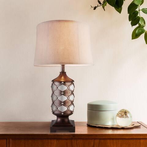 "Furniture of America Hafo Contemporary Silver Metal 30.5"" Table Lamp"