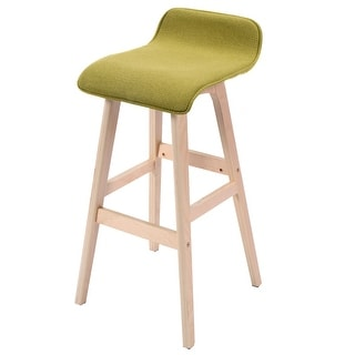 Costway 29 Inch Vintage Wood Bar Stool Dining Chair Counter Height Kitchen  Bar