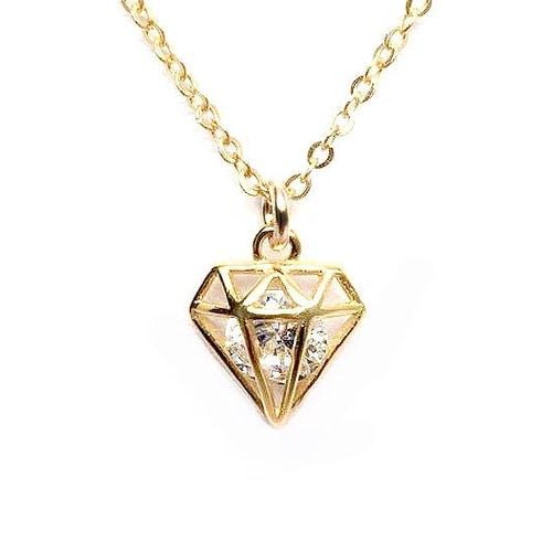 Julieta Jewelry CZ Diamond Gold Charm