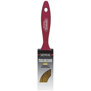 Minwax 1-0.5 in. Flat Black China Bristle Polyurethane Paint Brush