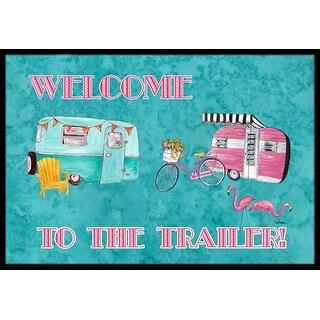 Carolines Treasures 8760MAT Welcome to the trailer Indoor Or Outdoor Doormat - 18 x 27 in.