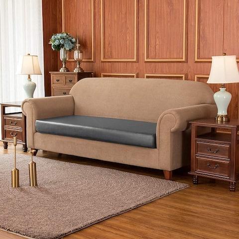 Subrtex 1-Piece PU Leather Chair Loveseat Sofa XL-Sofa Cushion Covers