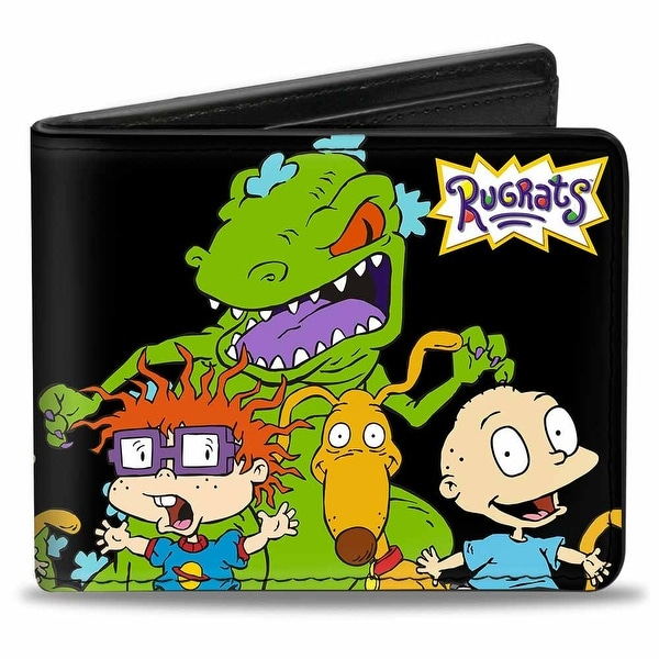 Rugrats Reptar W Chuckie Spike & Tommy Bi Fold Wallet - One Size Fits most