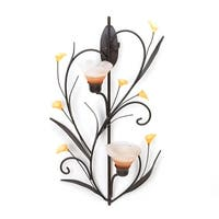 Amber Lilies Candle Wall Sconce