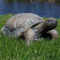 Sunnydaze Tanya the Tortoise Indoor Outdoor Statue 20 Inch Long